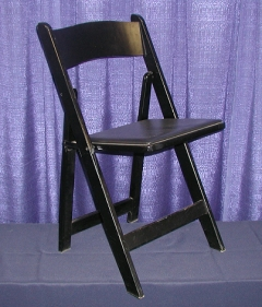 Rental store for CHAIR -  WOOD BLACK PADDED in Plymouth MN