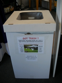 Rental store for TRASH CAN, REUSABLE BOX w LID in Plymouth MN