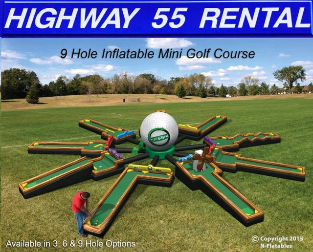 Where to find Inflatables  3-hole  Mini Golf in Plymouth